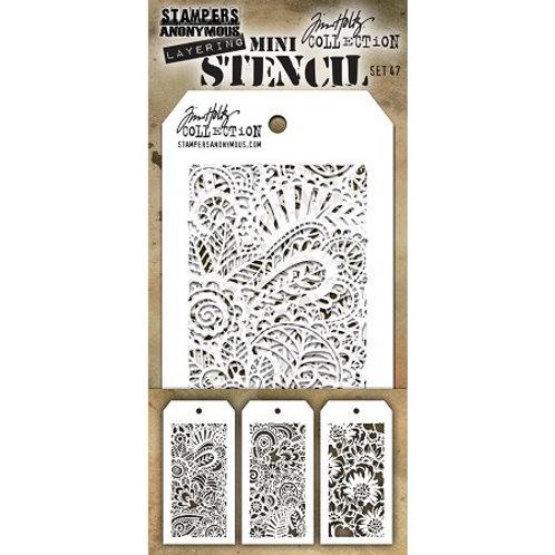 Mini-Layering Stencils by Tim Holtz Set 47