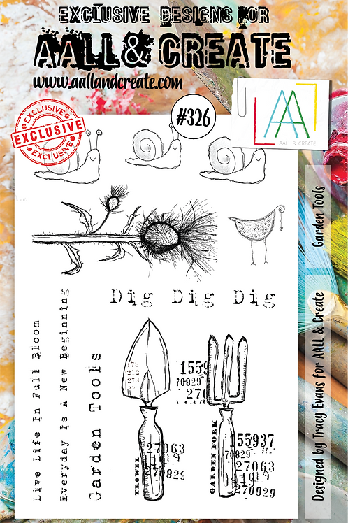 AALL and Create A5 Stamp Set #326 - Garden Tools