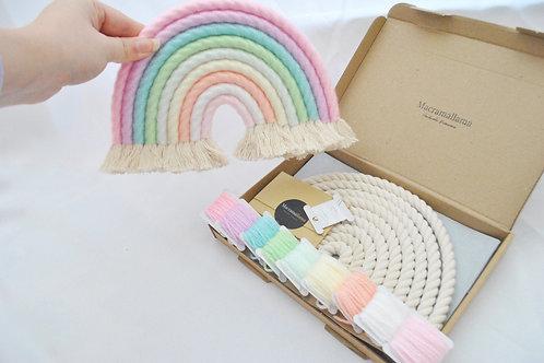 Extra Large Spring Pastel Macrame Rainbow Kit