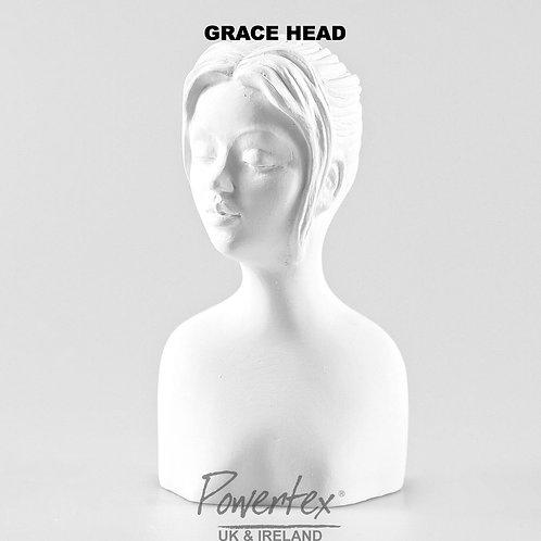 Grace Plaster Head by Powertex