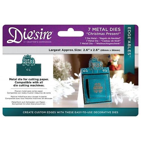 Die'sire Edge'ables 'Christmas Present' 7 piece Die Set
