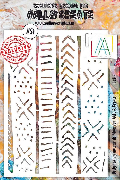 AALL and Create A5 Stencil #51 - Batik