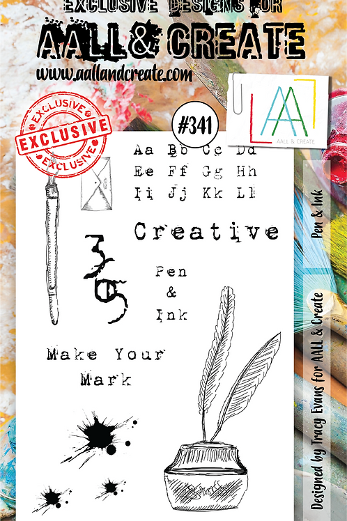 AALL and Create Stamp Set #341 - Pen and Ink