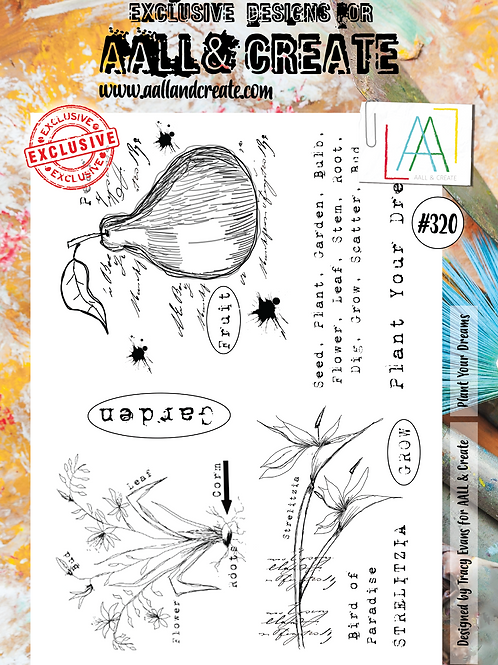 AALL and Create A4 Stamp #320 - Plant Your Dreams