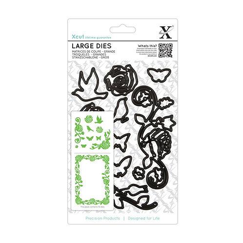 XCUT Large Dies - Rose Flourishes (10 piece set)