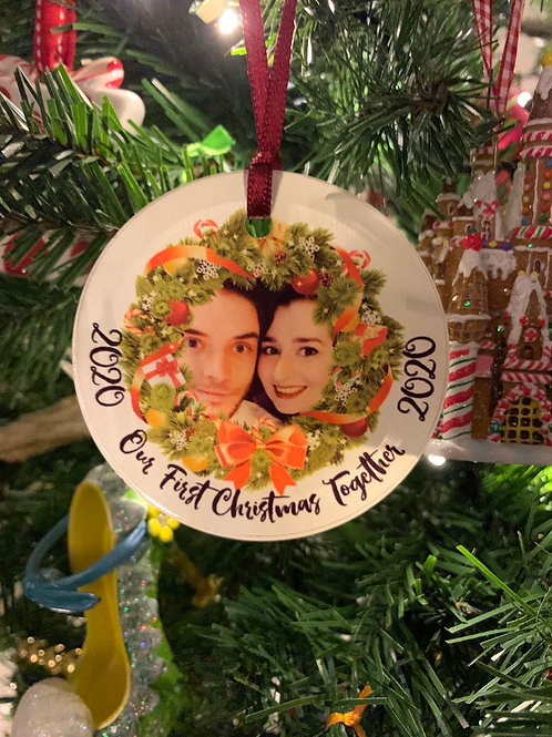 Personalised Acrylic Christmas Tree Ornament