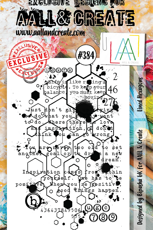 AALL and Create Stamp Set  #384 - Lined Hexagons
