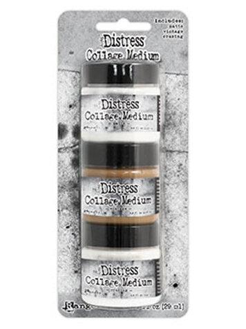 Distress Collage Medium - Pack of 3 Mini Tubs