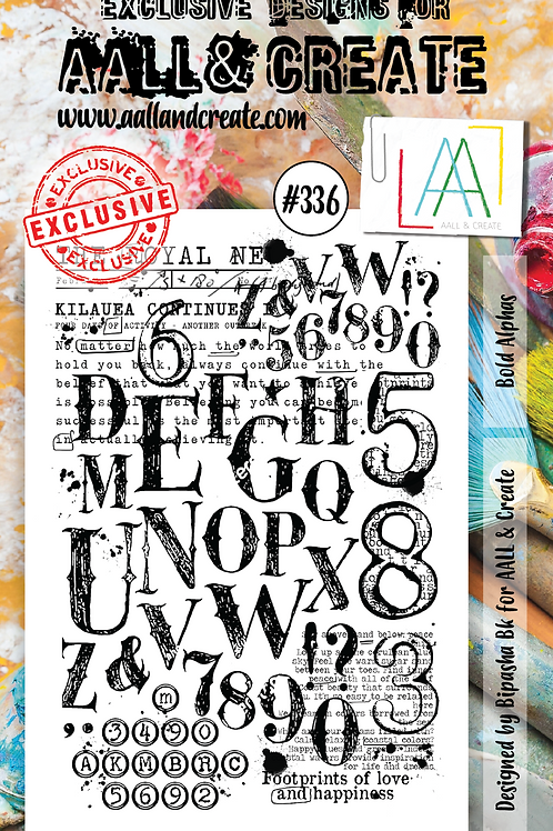 AALL and Create Stamp Set #336 - Bold Alphas
