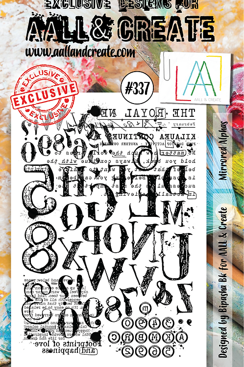 AALL and Create Stamp Set #337 - Mirrored Alphas