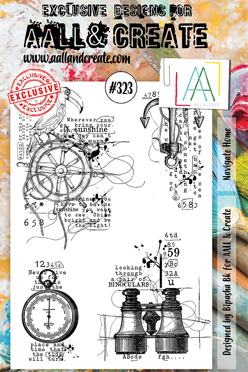 AALL and Create A5 Stamp Set #323 - Navigate Home