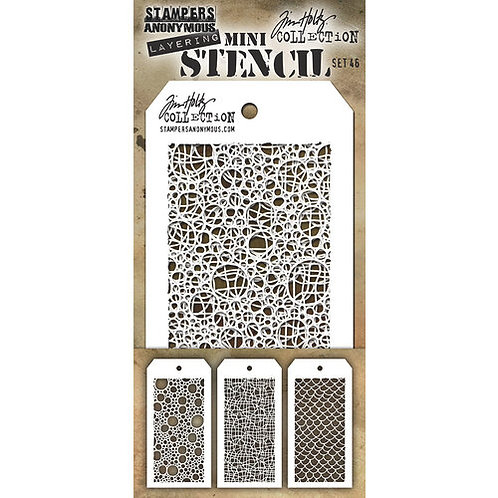 Mini-Layering Stencils by Tim Holtz Set 46
