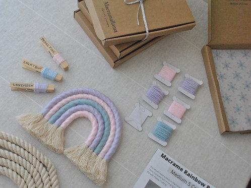 Medium Pastel Unicorn Macrame Rainbow Kit