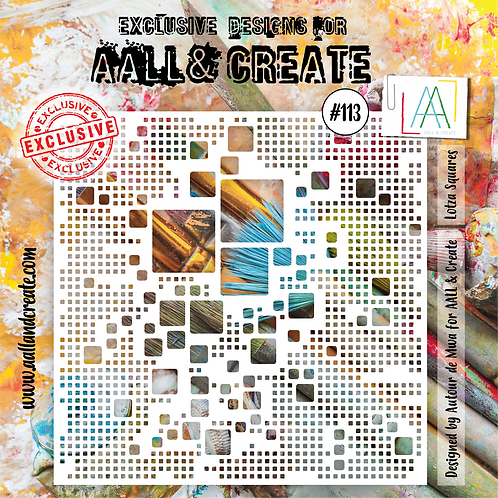 AALL and Create Stencil #113 -Lotza Squares