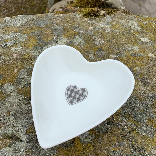 Heart Bowl from the Northumberland Tartan Co