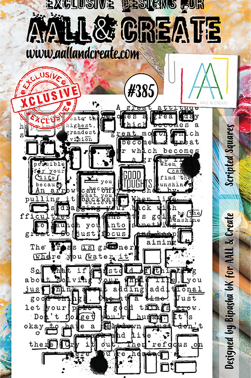 AALL and Create Stamp Set  #385 - Scripted Squares