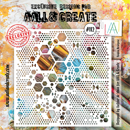 AALL and Create Stencil #112 - Heapza Hexagons