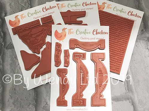 The Creative Chicken 'Northern Icon' A6 Rubber Stamp Bundle