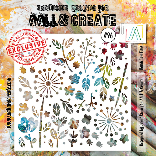 AALL and Create Stencil #96 - Dandelion Field