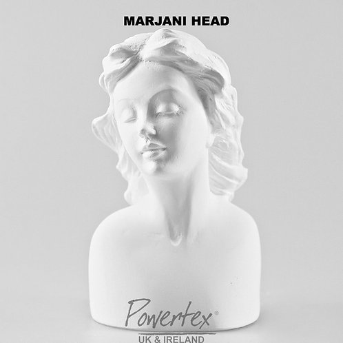 Marjani Plaster Head by Powertex