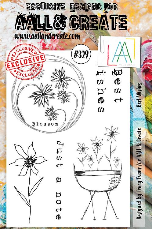 AALL and Create A5 Stamp Set #329 - Best Wishes