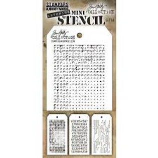 Mini-Layering Stencils by Tim Holtz Set 48