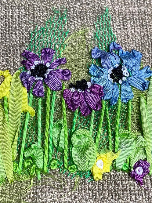 Creative Hand Embroidery Kit - Anemones & Irises