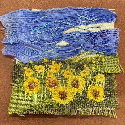 Creative Hand Embroidery Mini Landscape Kit - SunflowerMeadow
