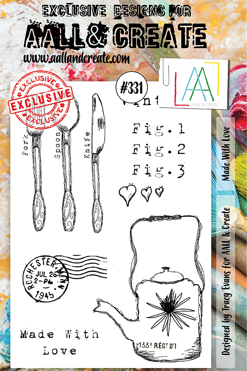 AALL and Create A5 Stamp Set #331 - Made with Love