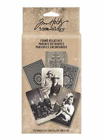 Tim Holtz Idea-ology 'Found Relatives' Card Pack