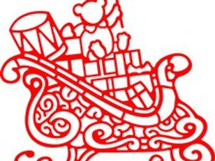 Cheery Lynn Designs Die -Santa's Sleigh