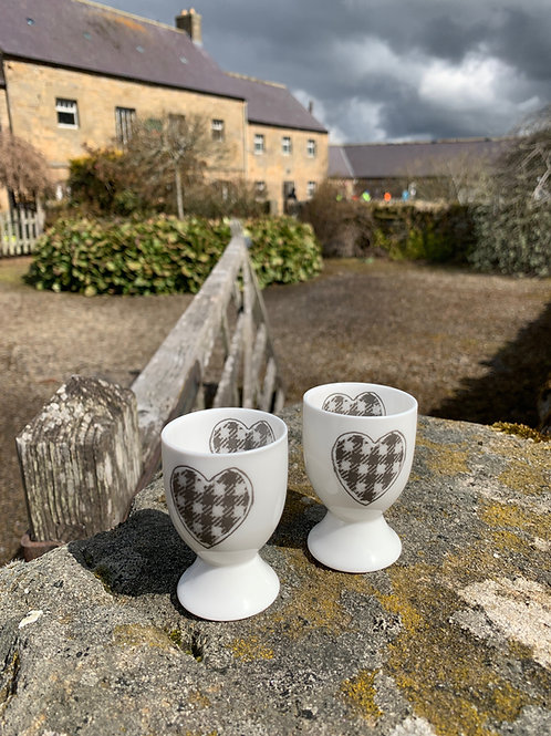 Fine Bone China Egg Cup from The Northumbrian Tartan Co