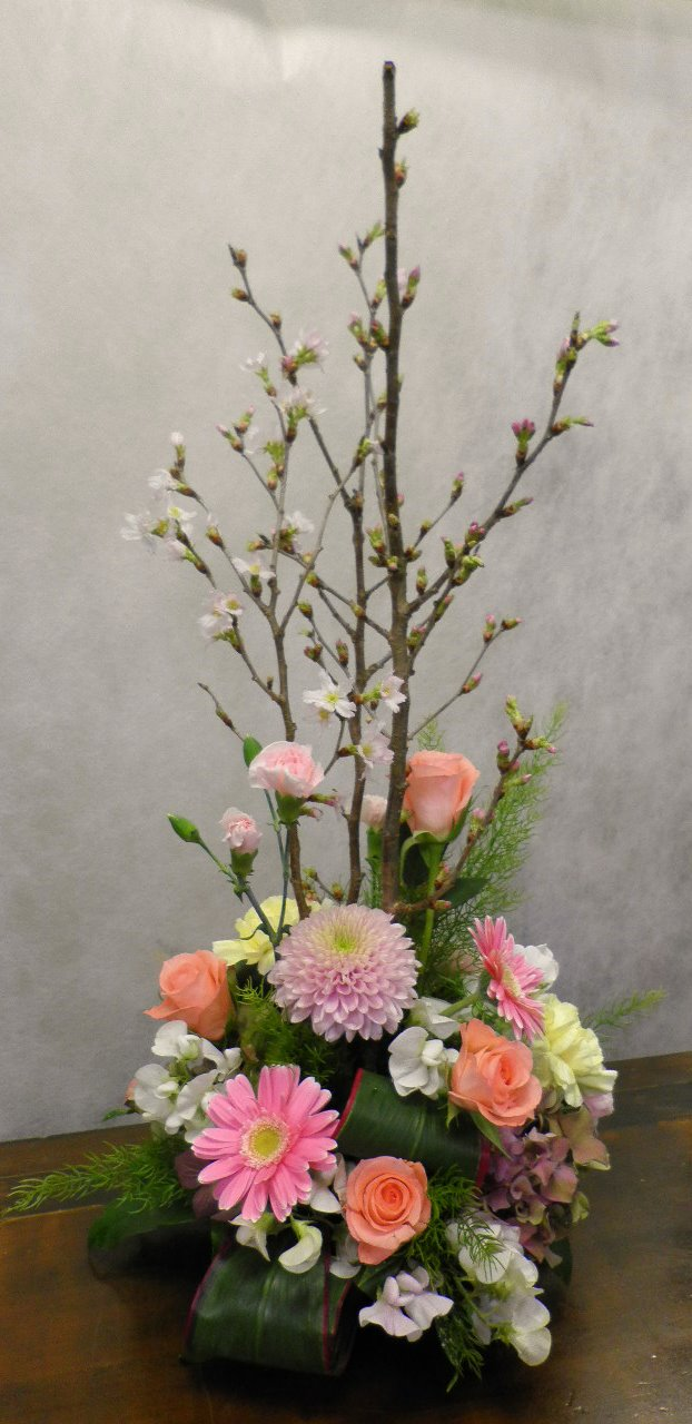桜の和風アレンジメント