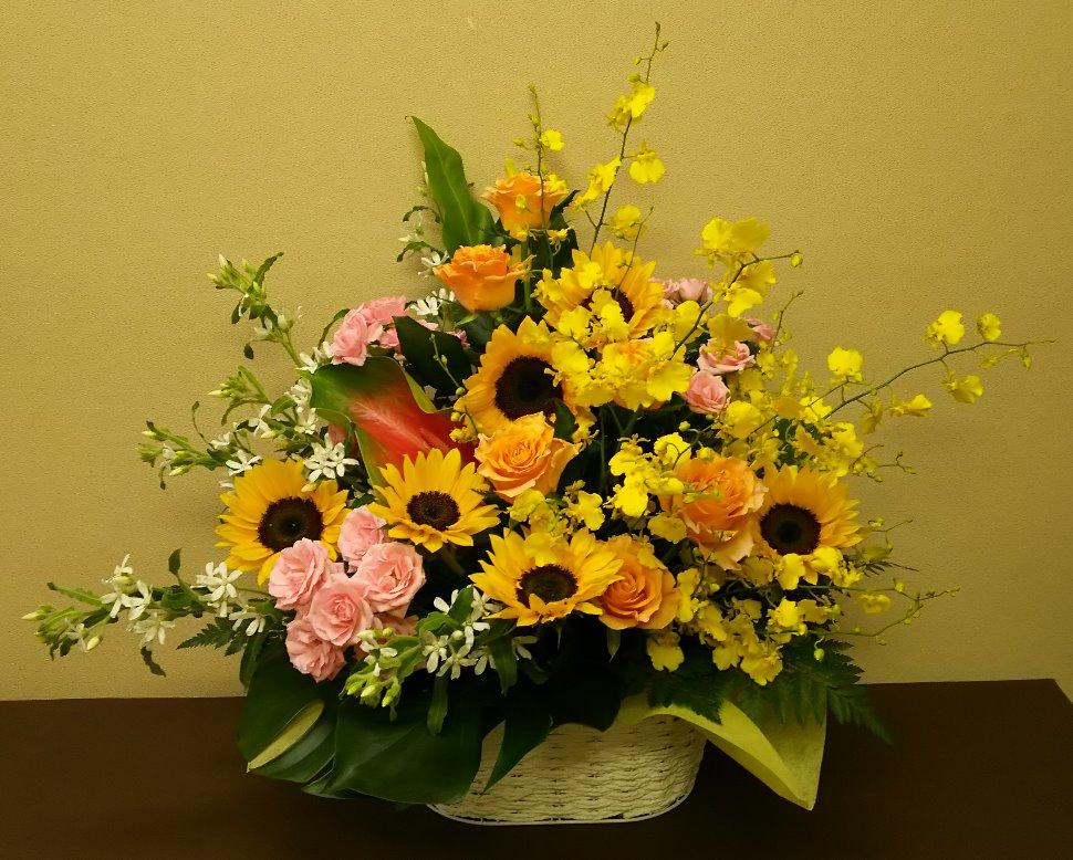向日葵のお祝いアレンジメント