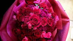 バラのブーケ 薔薇ラッピング