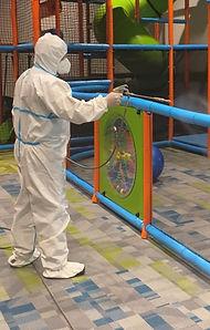 Disinfecting a Playground from Coronavirus