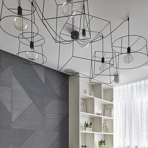 Люстра Паук 3D Black   Ретро Лампы   Лампы Эдисона   Лофт Свет   Светильники в стиле Лофт   LoftSvet   LustraPauk