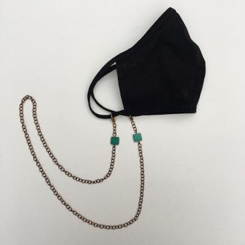 VD- Mask Chain- Turquoise Bead
