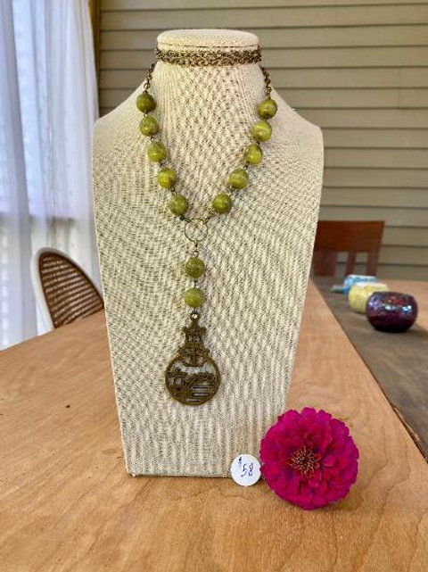 VD- African Jade Beaded Necklace