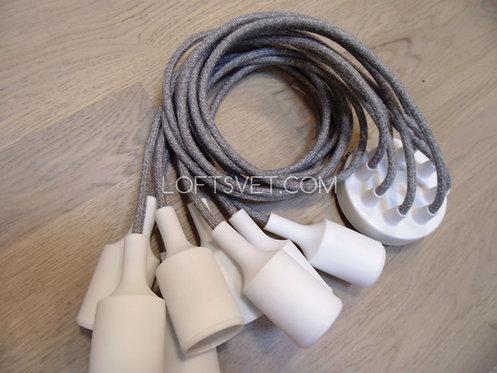 Люстра Паук GREY-WHITE   Ретро Лампы   Лампы Эдисона   Лофт Свет   Светильники в стиле Лофт   LoftSvet   LustraPauk