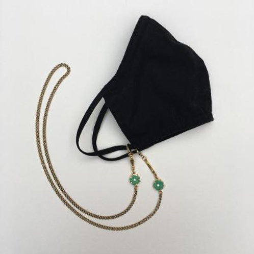 VD- Mask Chain- Green Flower Bead