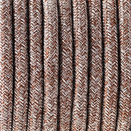 Цветной Ретро Провод - Натуральный Лен | Люстра Паук | Ретро Провод | Винтажный провод | Лампа Эдисона | Ретро Патрон | Лофт