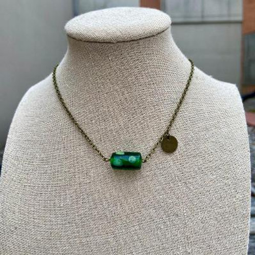 VD- Green Glass Necklace