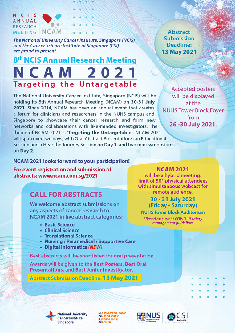 8th NCIS Annual Research Meeting - NCAM
