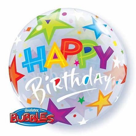 Happy Birthday Stars Bubble