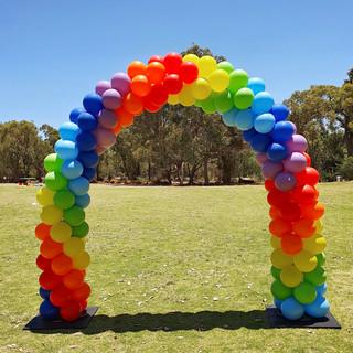Rainbow Ballooon Arch