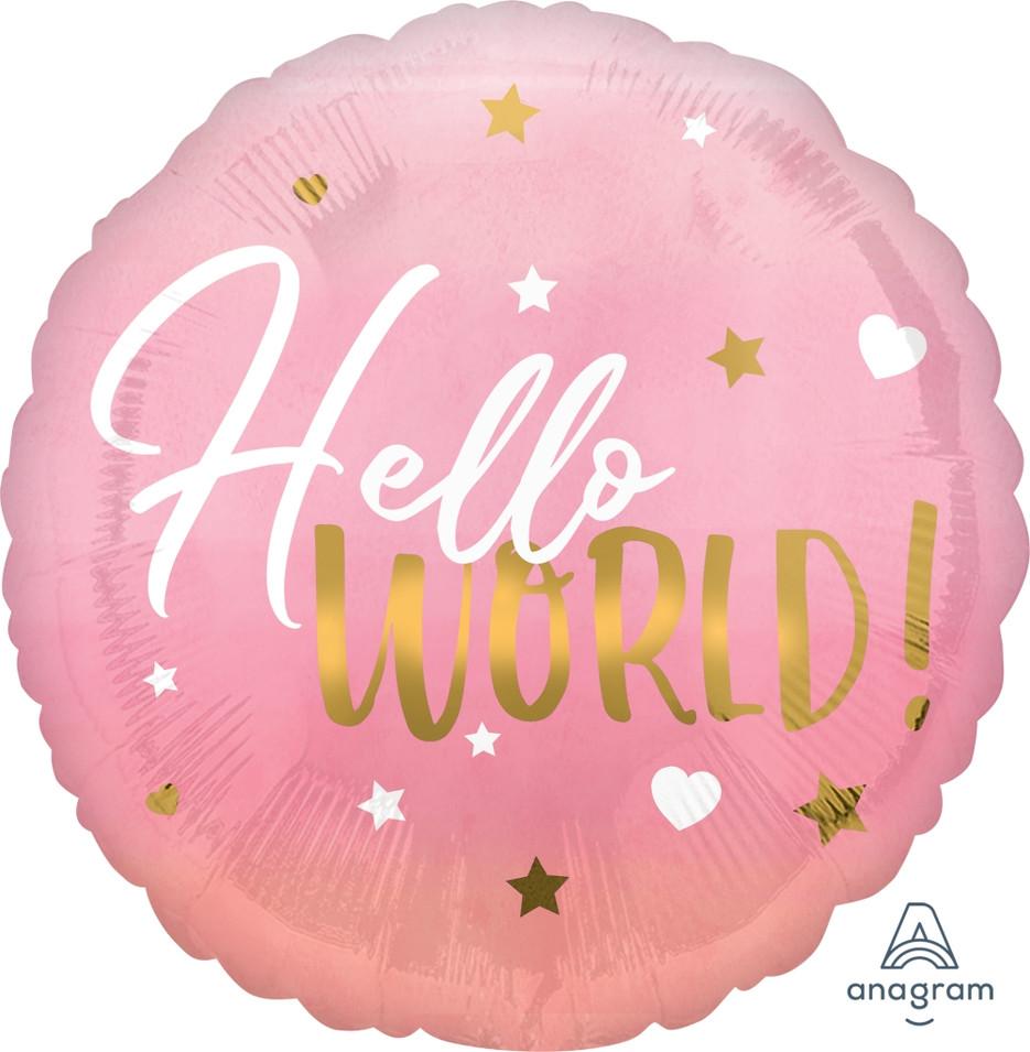 Hello World Pink