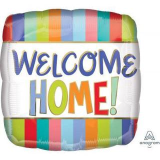Welcome Home Stripe Square