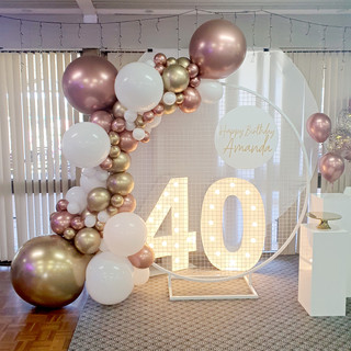 2m Balloon Garland in White and Chrome R