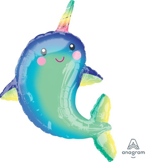 Happy Narwhal 77x99cm